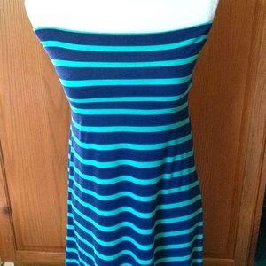 Sleeveless striped maxi dress size small